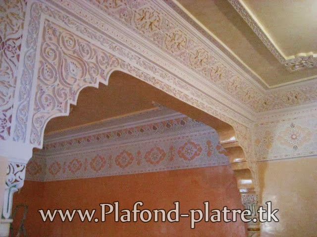 Boutique salon marocain 2018 2019 plafond for Fond plafond platre