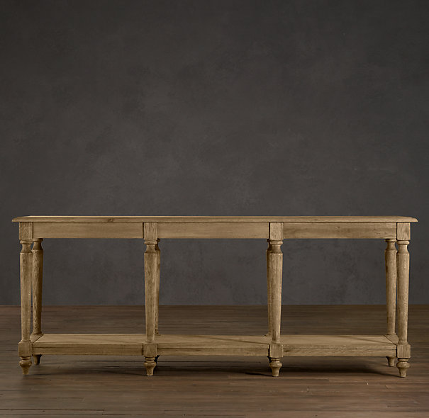 RESTORATION HARDWARE FRENCH COLONNADE CONSOLE TABLE