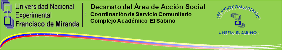 Servicio Comunitario UNEFM