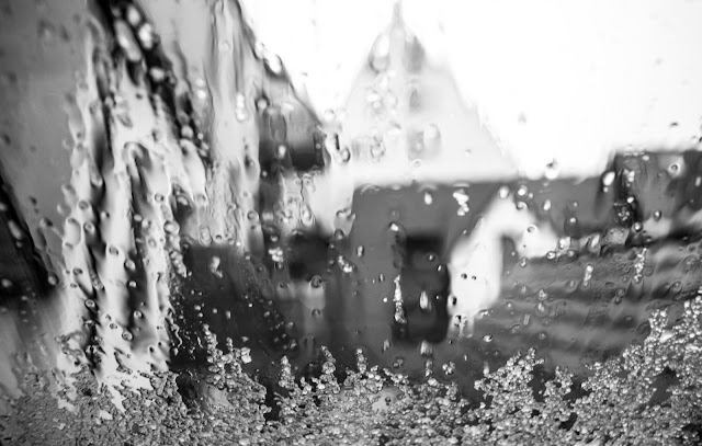 Matthew G. Beall black and white fine art photography  Water on a Window in Germany  2012