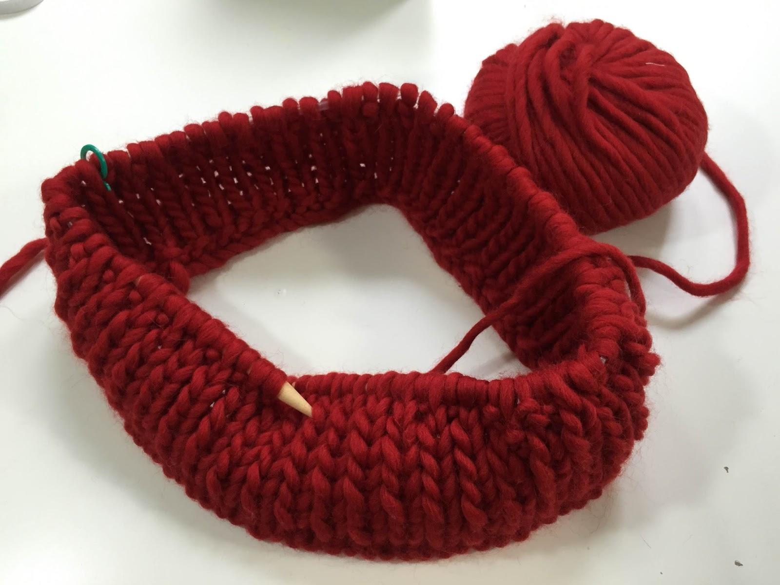DIY Como hacer bufanda tejida con agujas circulares (sin costuras ...