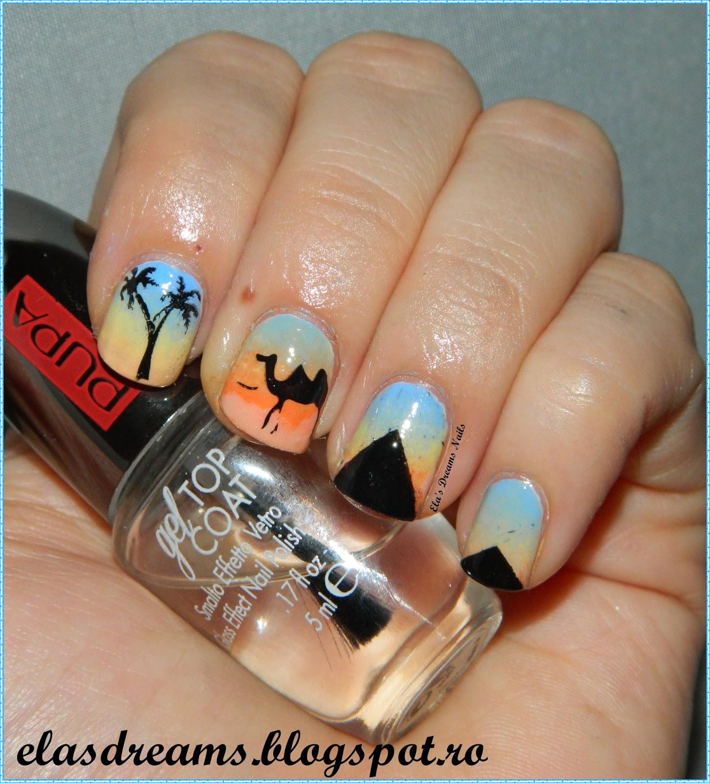 Ela\'s Dreams: NAIL ART MARATHON: 5. Palm Trees
