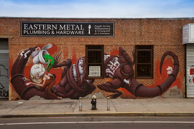 New Street Art Mural By Italian Artist ZED1 In Brooklyn, New York City. 10