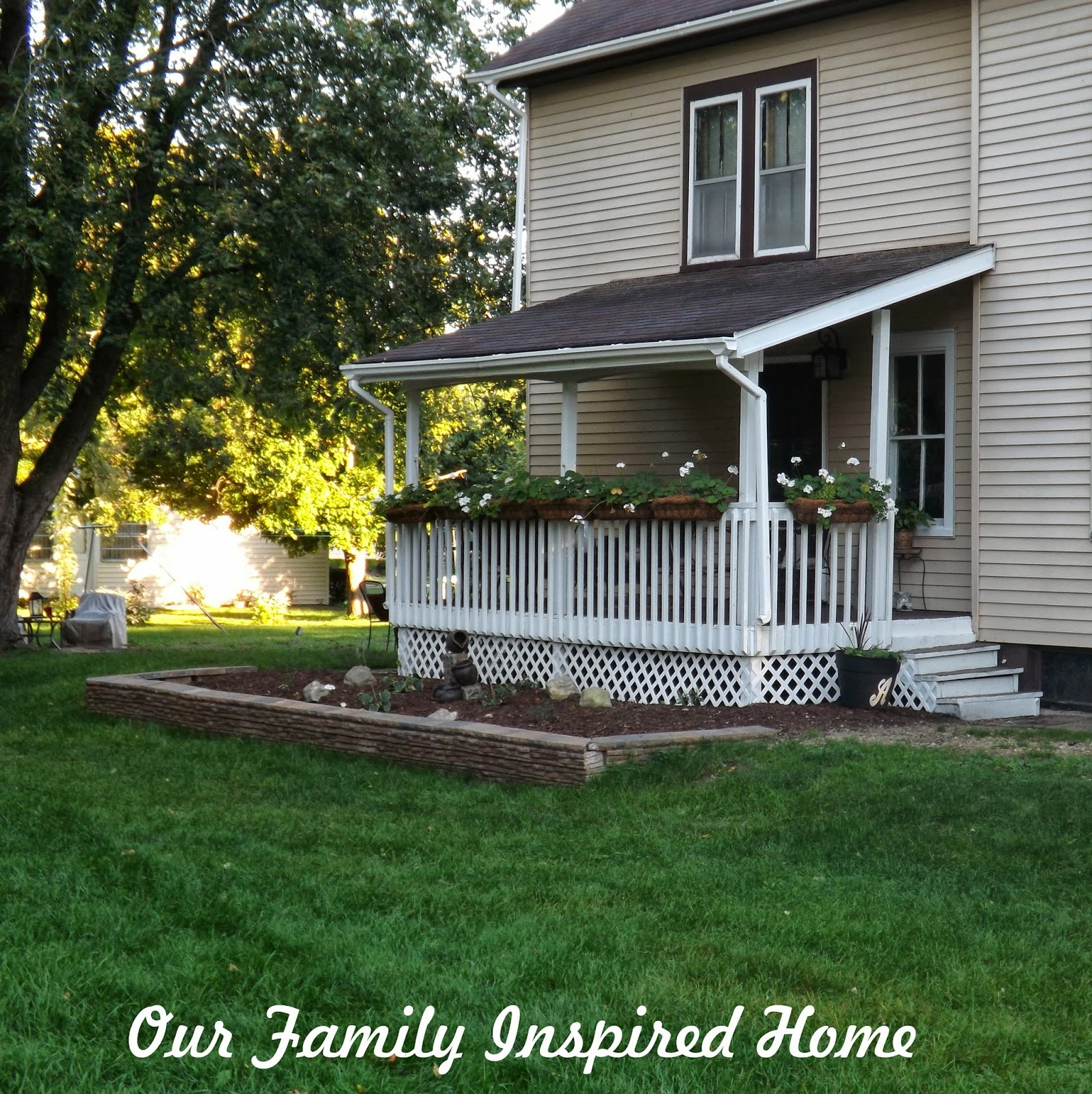 Our family inspired home side porch outside reveal and for Side porch