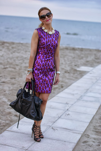 French Connection disco dress, Balenciaga Work, Zara lace up heels, Fashion and Cookies, fashion blogger