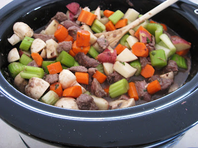 beef stew ready to slow cook