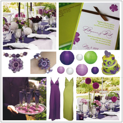 And this Green and Purple combo is from Ecopolitan Bride