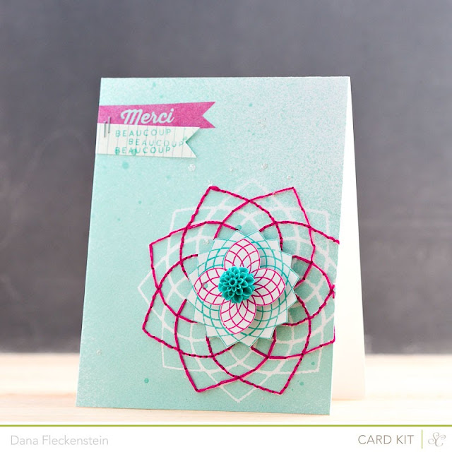 Studio Calico Double Scoop Merci Beaucoup x3 card by @pixnglue