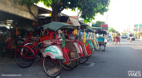 Becak en Yogyakarta Indonesia