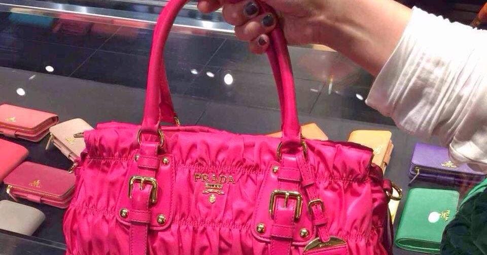 pink and black pradas - Neo LUXuries: PRADA Tessuto Gaufre' Top Handle Bag - BN1407 ...