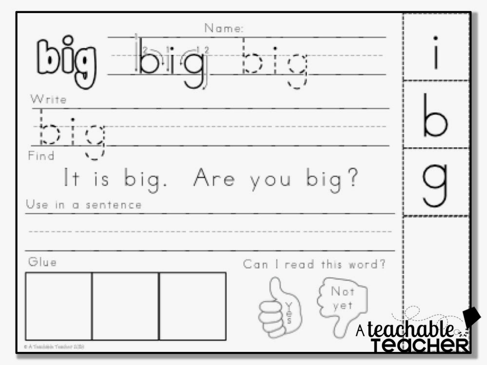 How did worksheet  your you words sight practice classroom? do in word sight