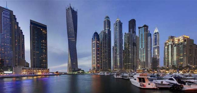 Tallest Cayan Tower Dubai