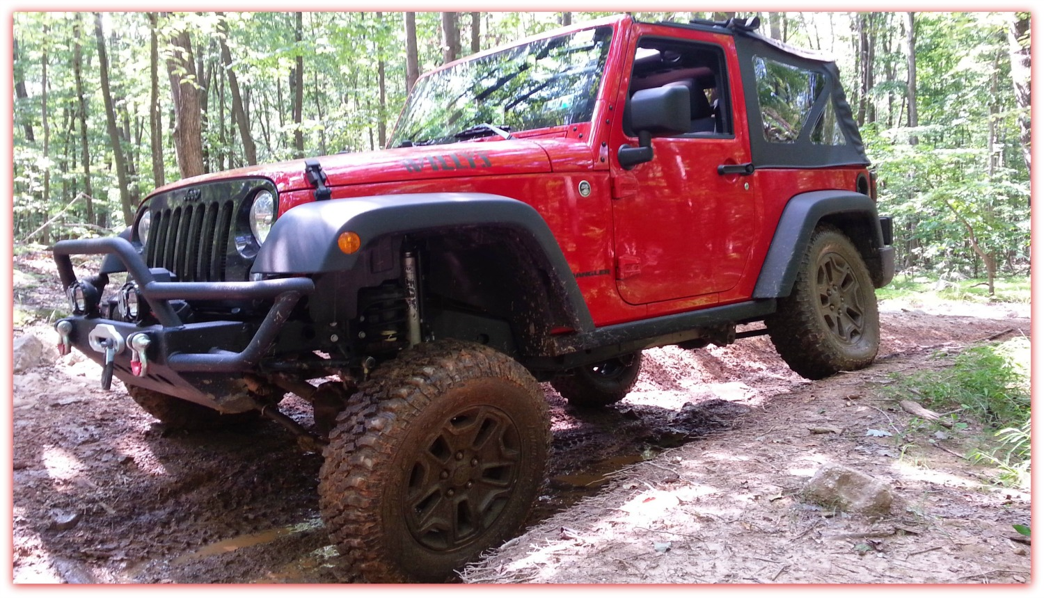 A Fellow Jeeper And Jeep Momma Follower, Larry And His 2014 Willys, Also  Like Rausch Creek Off Road Park.