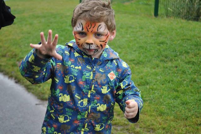 Tayto Park tiger face paint