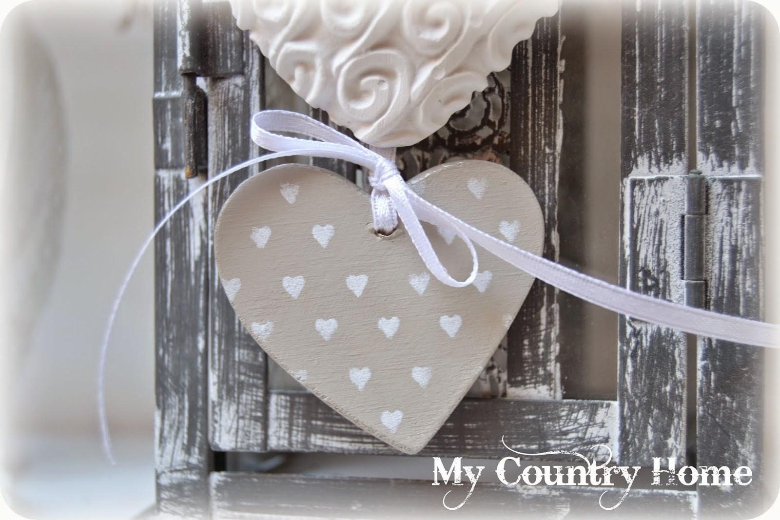 My country home cuori di gesso e legno - Scritte in legno shabby ...