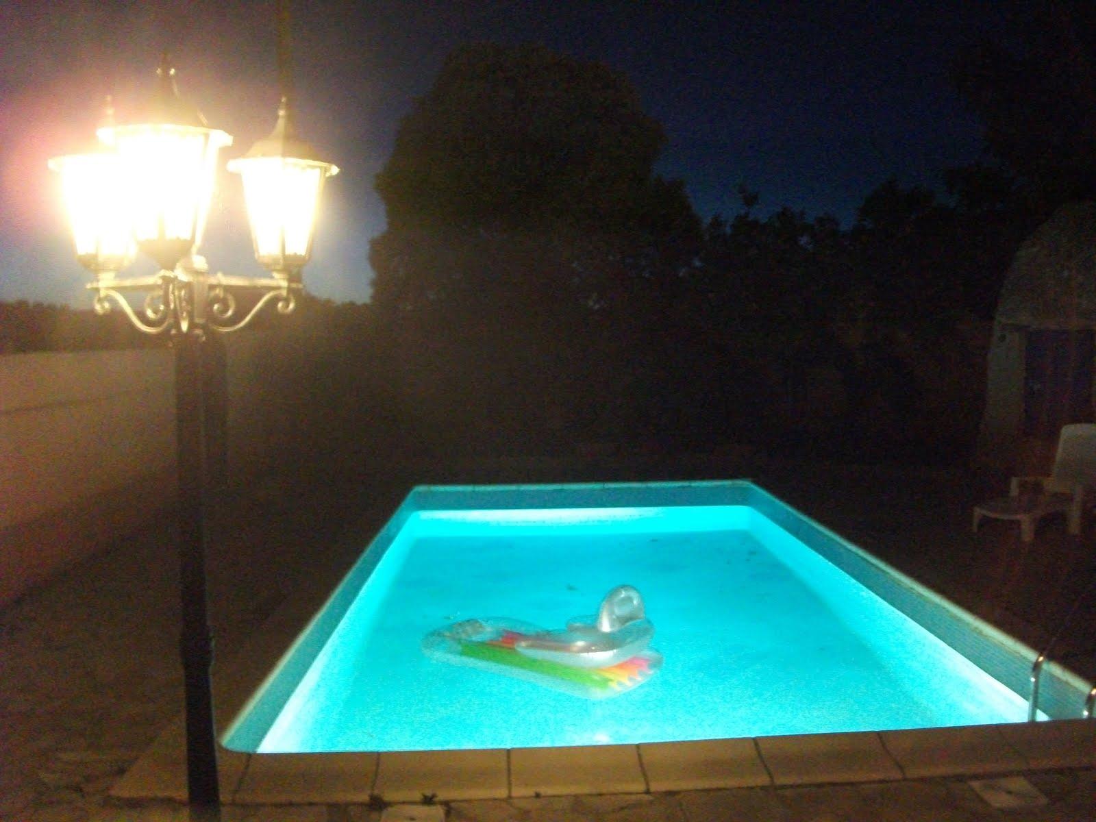 Villa olivier - Piscine la nuit