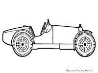 Mewarnai Gambar  Mobil Kuno Antik