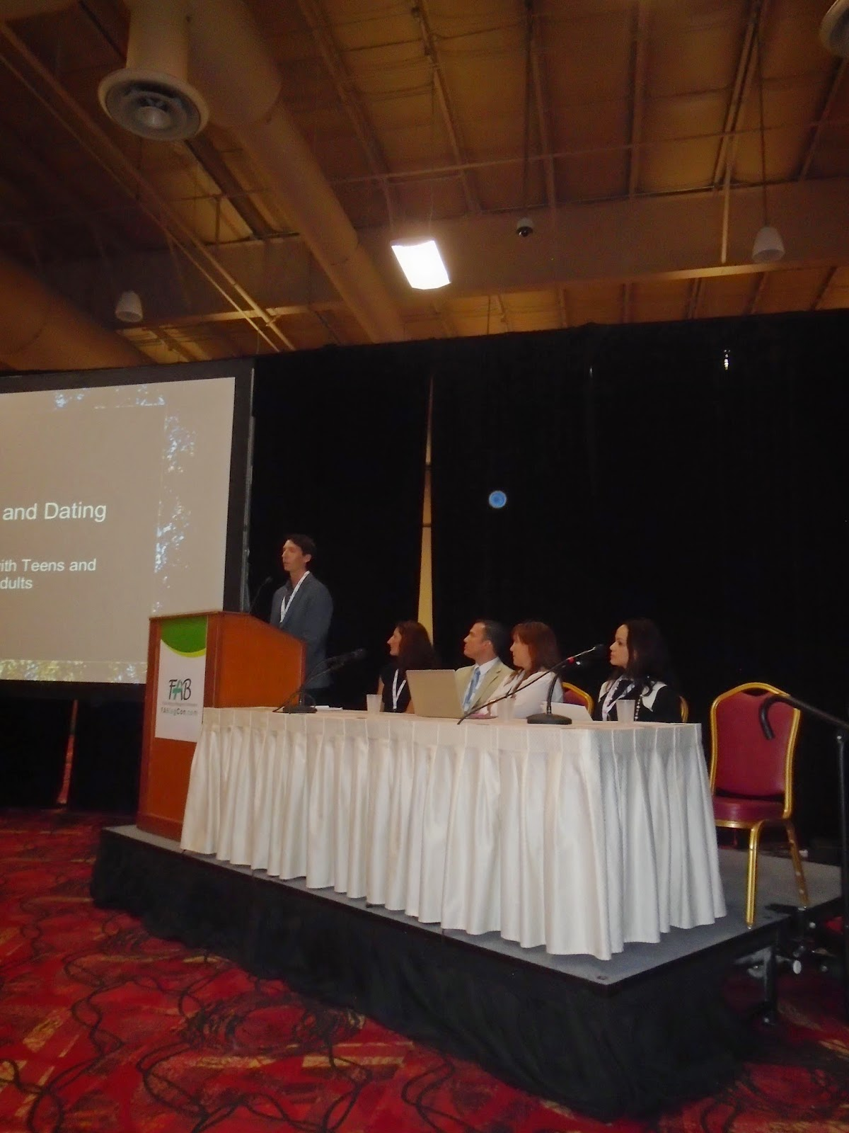 Panel of four speakers for FABlogCon 2014 conference