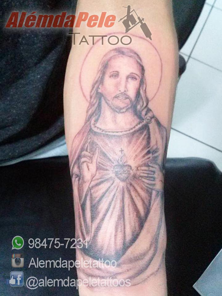 Excepcional Além da Pele Tattoo Studio: Tatuagem Jesus Cristo ZH13