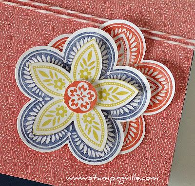 Triple Treat Flower Rubber Stamp by Stampin' Up!