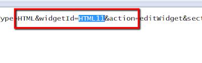 How to find widget code in blogger