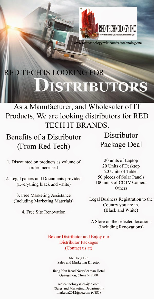 Red Tech is looking for Distributors