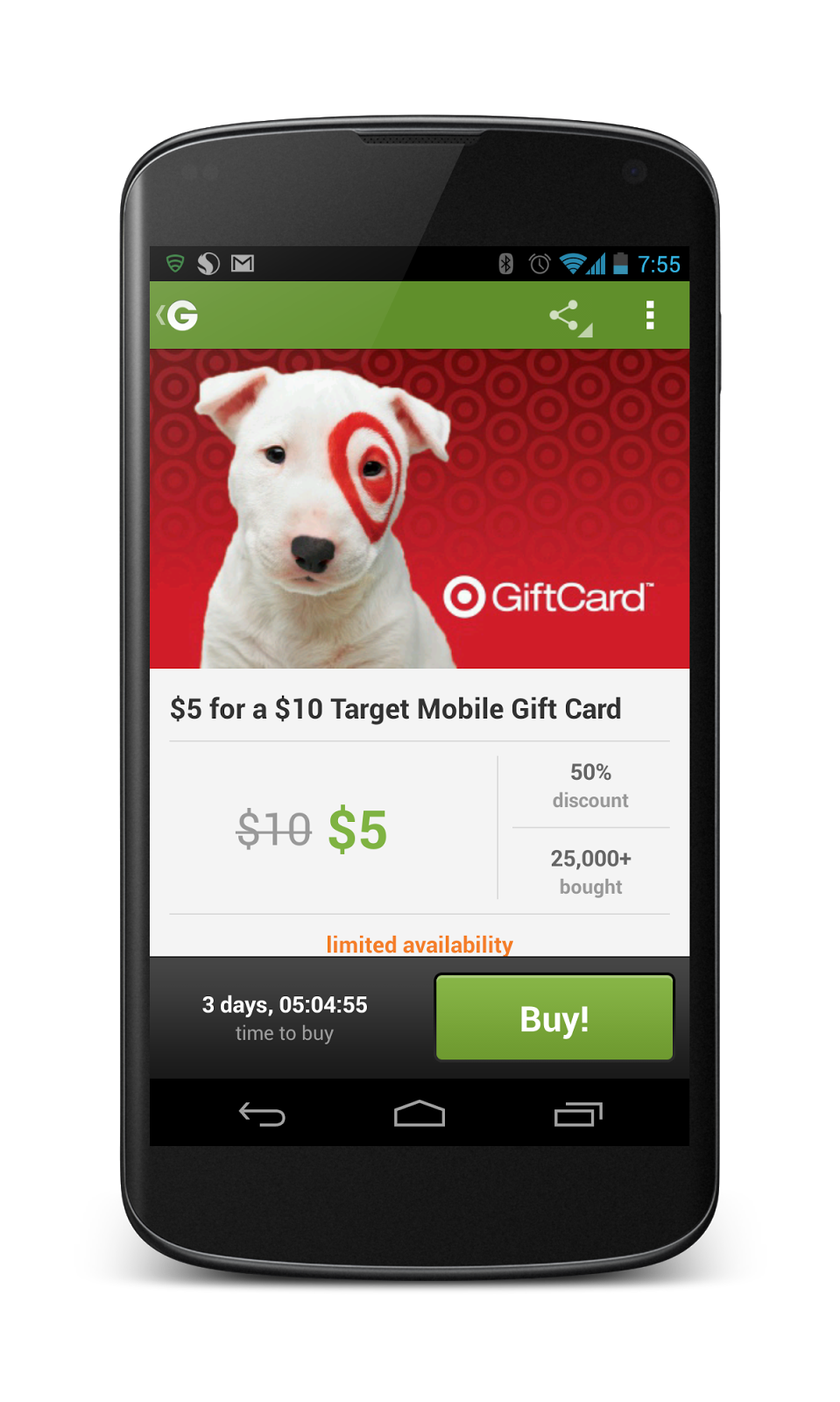 free is my life  groupon  pay  5 for a  10 target gift