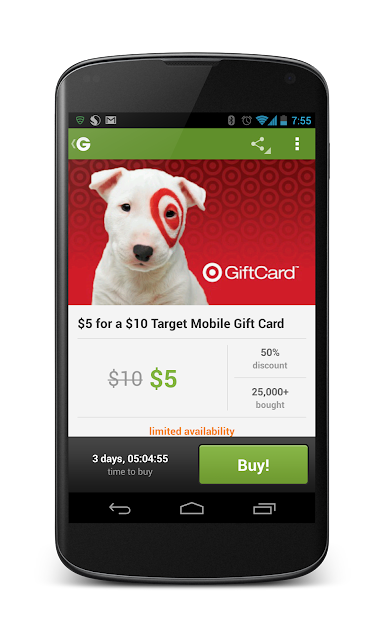 how to use gift card on groupon