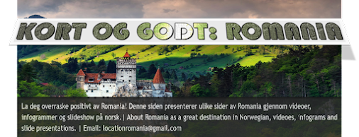 Infogrammer om vakre Romania