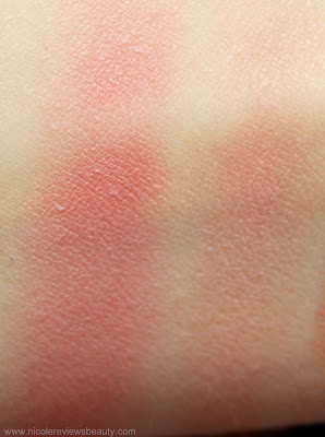 Dr. Hauschka Natural Pastels Rouge Powder Duo in Soft Rose Swatches