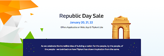 Flipkart Republic Day Sale on 20th, 21st and 22nd January, 2016 - Offer Details