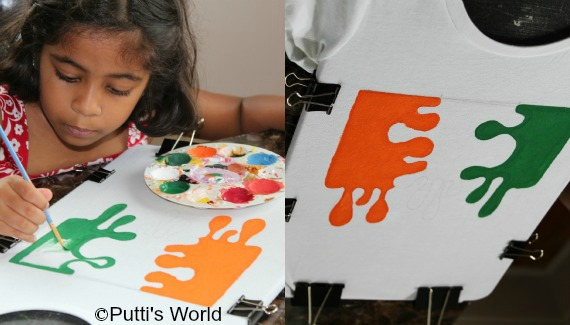Paint Your Own India Flag T Shirt