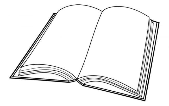 printable open book coloring pages - photo#17