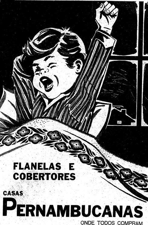 Propaganda das Flanelas e Cobertores das Casas Pernambucanas em 1996.