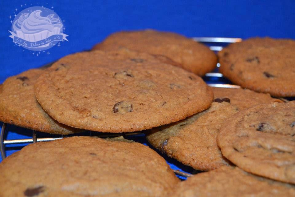 Presentación Cookies de turrón jijona y gotas de chocolate
