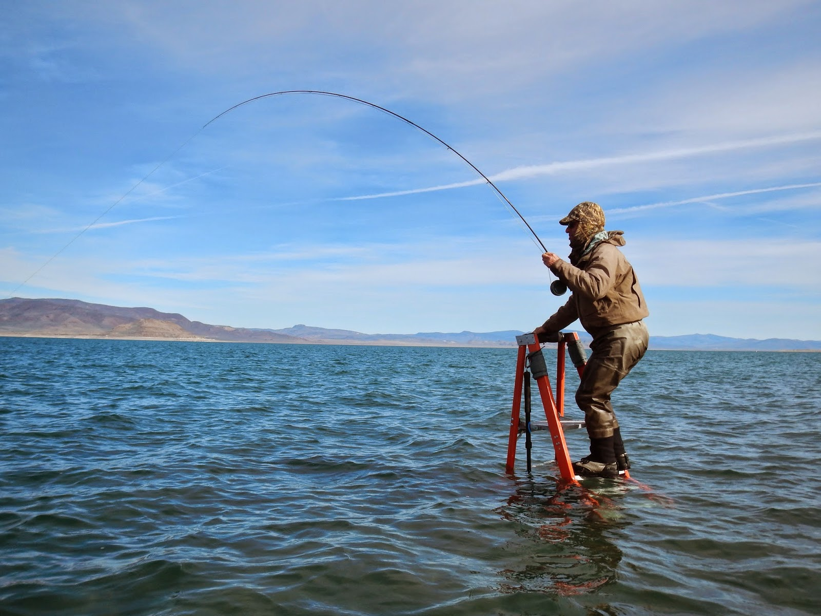 California fly fishing we 39 ll take the snow and the hot for Pyramid lake ca fishing report