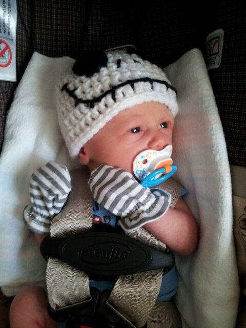Mommy Made Crochet Jack Skellington Hat