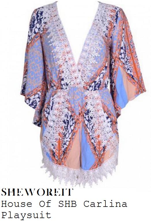 lauren-goodger-multi-mixed-print-kimono-sleeve-plunge-front-playsuit