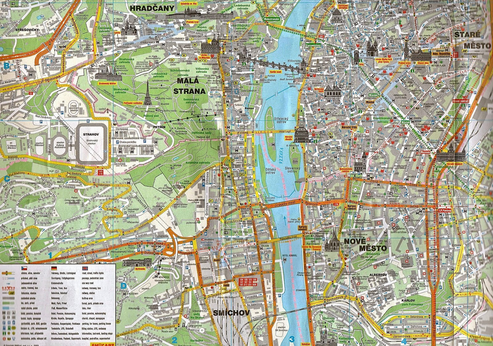 Missing Maps Prague Then and Now Changes to travel over the last – Tourist Map of Prague
