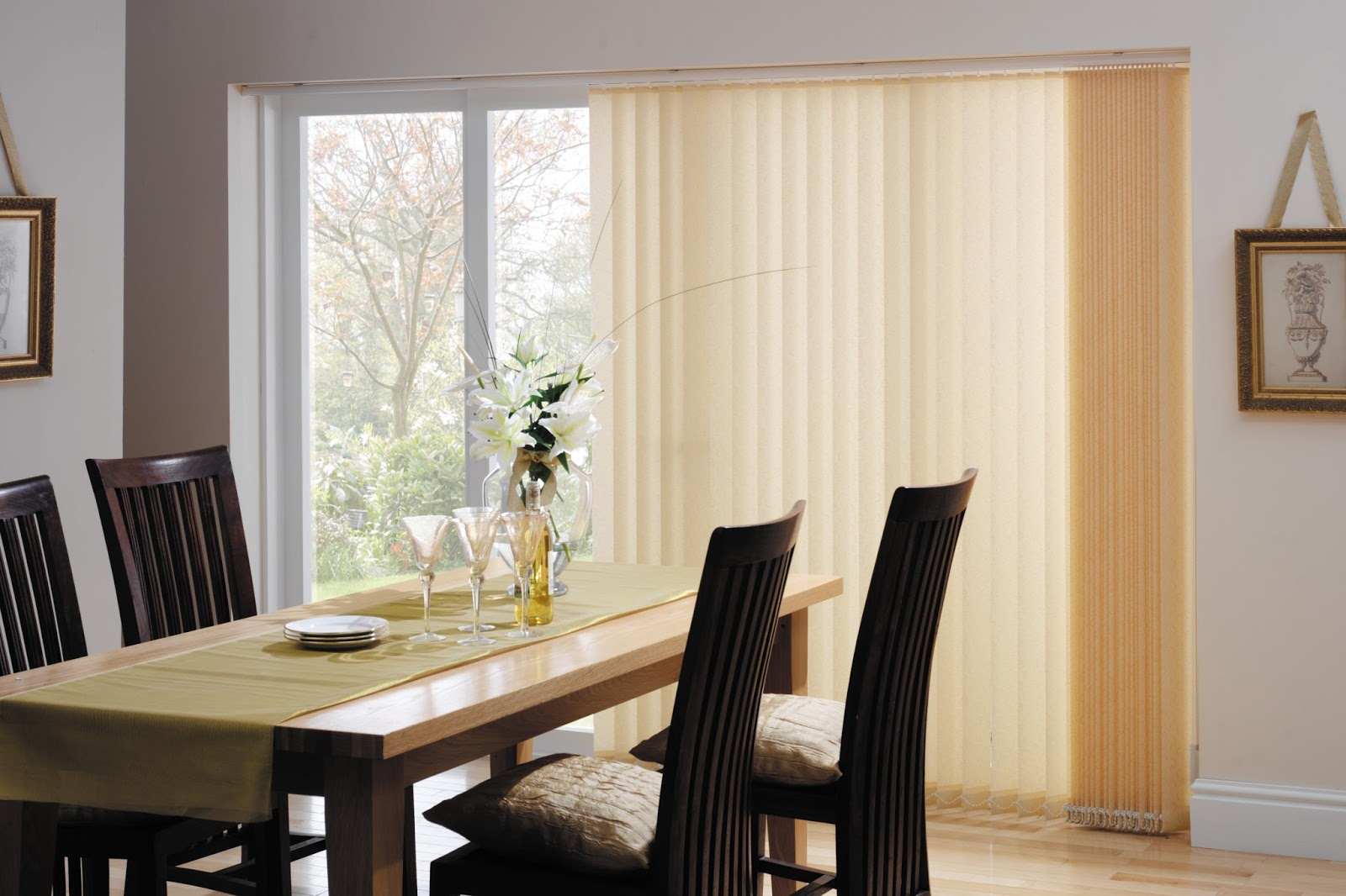 Replacement lapwing design blackout vertical blind slats in white or - Patio Door Blinds