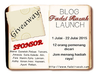 "Giveaway ""Blog Fadzi Razak Launch"" 2015"