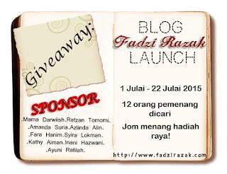 "Giveaway ""Blog Fadzi Razak Launch"" 2015"