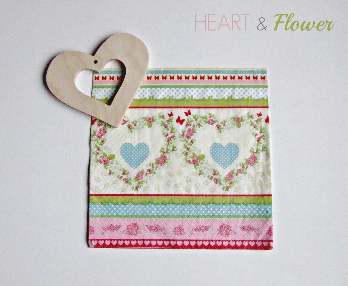 Walentynkowe serce i serwetki - serca decoupage w Eco Manufakturze