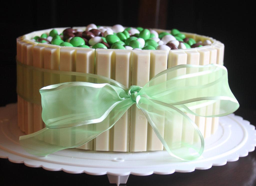 Real Life Pastors Wife White Chocolate Kit Kat Coconut MMs Cake