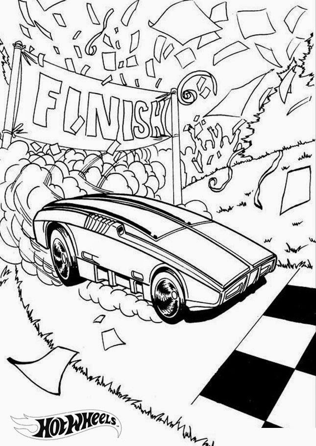 Hot Wheels Coloring Pages 17