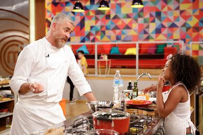 Chef Alex Atala e Aisha - Divulgação/Band