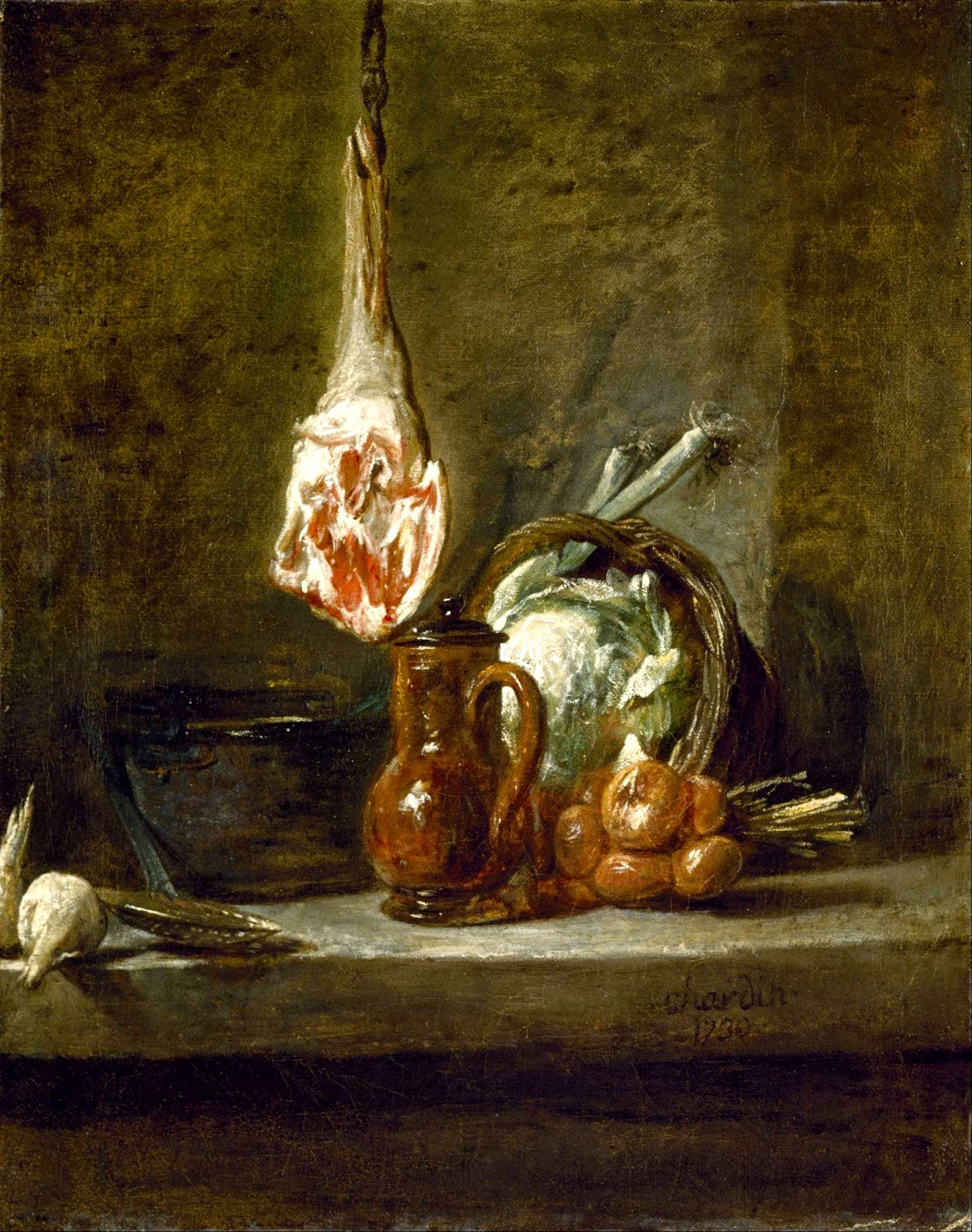 Still Life with Leg of Lamb Painting by Jean-Baptiste Siméon Chardin