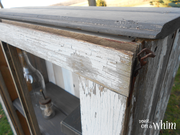 Chippy Window Made Into a Rustic Cabinet | Denise on a Whim