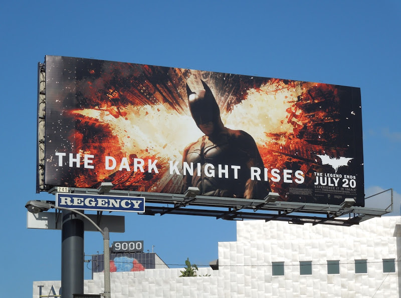 Dark Knight Rises movie billboard