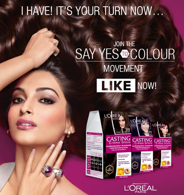 loreal paris casting creme gloss hair color say yes campaign